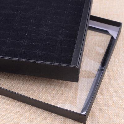1 Jewel Kasten Box blau Geschenk Ringe Ohrringe Schmuck Samt Display F7C8