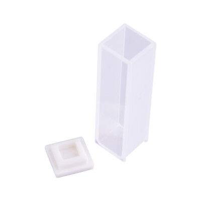 4Pcs 3.5ml 10mm Cuvette Cell Spectrometer Micro Optical Quartz Cuvettes with Lid 2