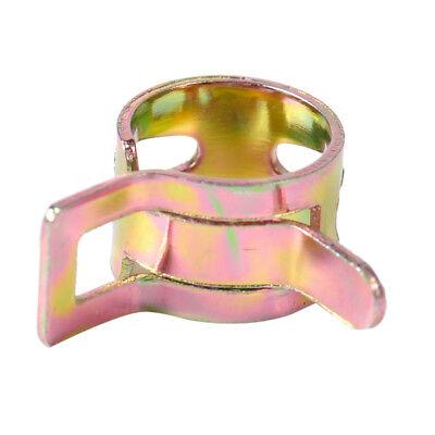 10X Clips Ressort Colliers Tuyau de Carburant Fuel Hose Line Clamps Clip 5-10mm 4