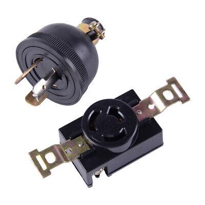 L14-30 Plug NEMA 30A 125-250V 3P 4 Twist-Lock Locking Generator US Male Plug 2