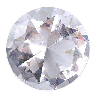 60mm Crystal Diamond Clear Cut Glass Large Giant Diamond Wedding Gifts Jewel 2