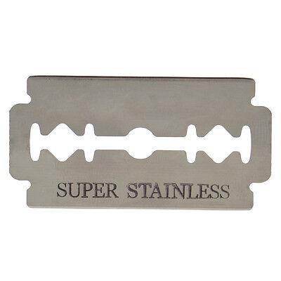 10 PCS Stainless Steel Double Edge Sharp Blade Thinning Knife Shaving Hair Razor 4