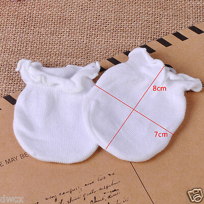 5pcs Newborn Boy Girl Soft Cotton Infant Handguard Anti Scratch Mittens Gloves 5