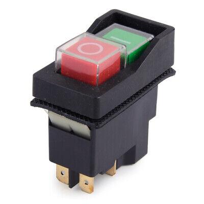 IP55 KJD17 KLD28 4Pin Start Stop On Off Volt Release Switch 250V Interrupteur x1 3