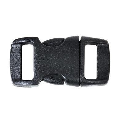 100x Kunststoff Steckverschluss seitliche Freigabe Gurtband Armband Paracord