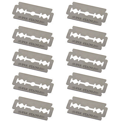 10 PCS Stainless Steel Double Edge Sharp Blade Thinning Knife Shaving Hair Razor 2