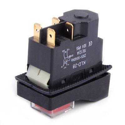 IP55 KJD17 KLD28 4 Pin Start Stop On Off Volt Release Switch 250V Interrupteur 4