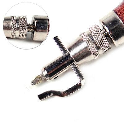 5 in 1 Leder Leather Craft Einstellbare Pro Stitching Punch Groover Werkzeuge