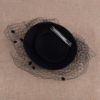 Large Black Beak Clip Hat Fascinator Weddings Ladies Day Race Royal Ascot 2