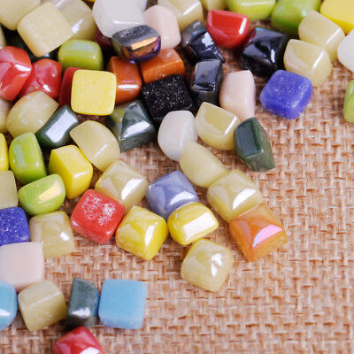 """50g 3/8"""" Mini Vitreous Glass Mosaic Tiles Wall Craft Various Mixed Stained Drops 2"""