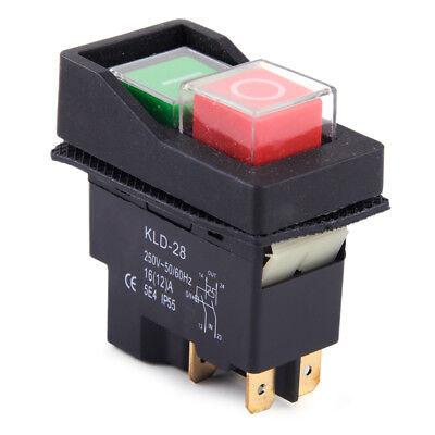 IP55 KJD17 KLD28 4 Pin Start Stop On Off Volt Release Switch 250V Interrupteur 2