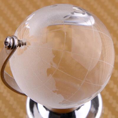 4cm Klar Glas Globus Glaskugel Erde Kristall Erdkugel Tischplatte Stand Geschenk 2