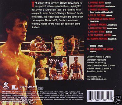 Rocky IV Original Film ~ Movie Soundtrack ~ NEW CD Album ~ eye of the tiger  4 2