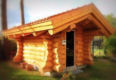 Naturstammblockhaus, Blockhaus, Holzhaus,Ferienhaus,Gartenhaus, Sauna, Cotta 2
