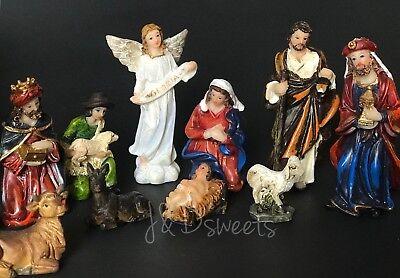 Christmas Nativity Scene Set Figures Polyresin Figurines Baby Jesus 11 PIECE SET 5