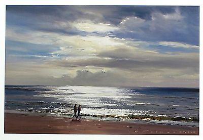 "DUNCAN PALMAR ""Sparkling Seas II"" beach SIGNED LTD ED! SIZE:29cm x 37cm NEW RARE 2"