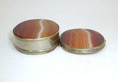 Pill Box um 1900 Can Agate 8
