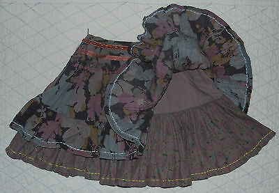 Next girl's skirt * age 3 * Lovely with embroidery and sequins / two layered 5