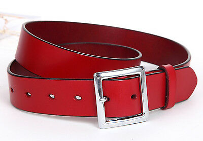 Women's Jean Belt, Classic Square Buckle Handcrafted Genuine Leather Belt 9
