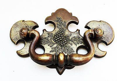 Brass Antique Hardware Vintage Chippendale Drawer Pull 2 1/2 center Rustic Cabin 9