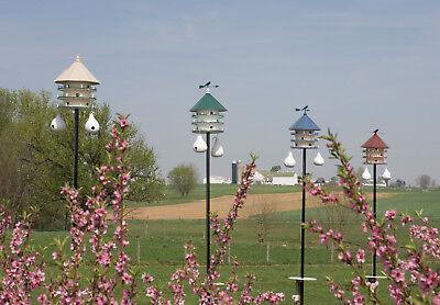"20"" COPPER TOP BIRD SEED FEEDER - Amish Handmade 14"" Round Post Mount Gazebo USA 5"