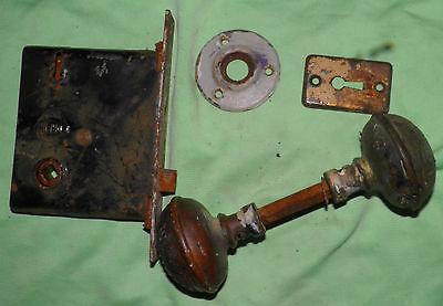 Antique Eastlake Brass Door Knobs Orbin Hardware Locksets Victorian BIN Save $$ 11