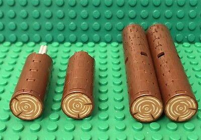 Stump Pattern Parts Lego X25 Reddish Brown 2x2 Round Tiles With Trunk Tree Log