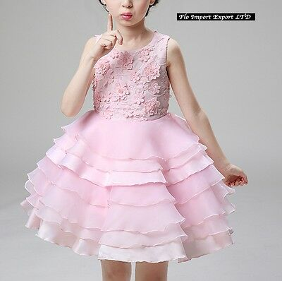 ... Vestito Bambina Abito Cerimonia Fiori Elegante Girl Party Princess Dress  CDR060 8 d9e0d51c84b