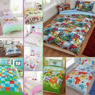 Boys, Girls, Kids & Adult Character Duvet Quilt Cover Bedding Sets - 4 sizes