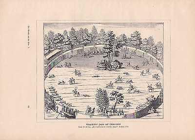 Eingestelltes Jagen Rotwild Schwarzwild DRUCK von 1906 Jagd Mittelalter 2
