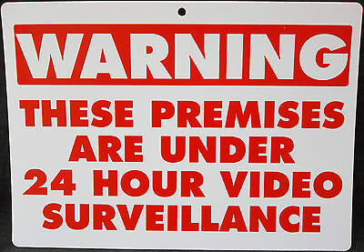 Home Alarm Yard Sign w Post & 6 Alarm System Stickers! Bonus Warning  Security Camera