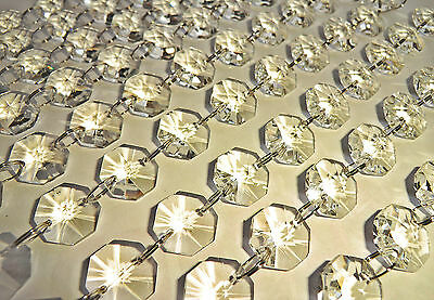 50 Chandelier Light Crystals Droplets Glass Beads Wedding Drops 16Mm Prism Parts 5
