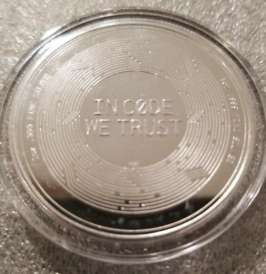 Ripple XRP 1 oz .999 silver commemorative coin crypto currency bitcoin, btc, eth 5