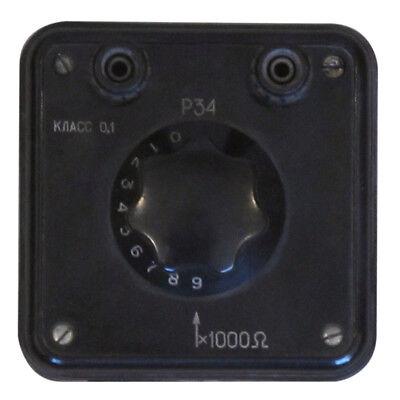0-90 kOhm 0.2% P34 Decade Resistance Standard Box Resistor an-g L&N ESI IET 2