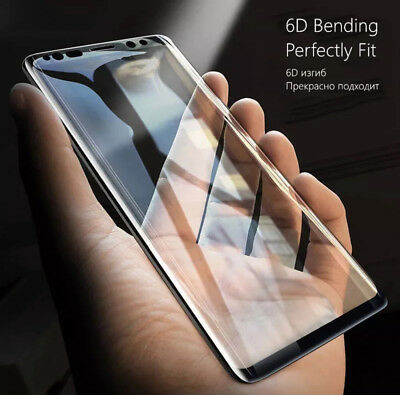 6D Samsung Galaxy S9+ S8 Plus Note 8/9 Tempered Glass Full Glue Screen Protector 8