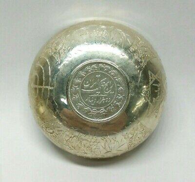 Antigüedad Plata de Ley Judaísmo Medio Oriental Moneda Shabbat Vino Copa Bowl 3