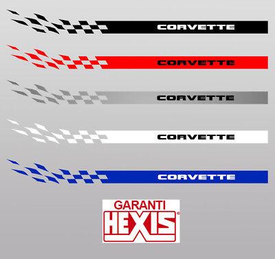 2 X Bandes Bas De Caisse Chevrolet Corvette Deco Portiere Sticker Bd424-14* 2