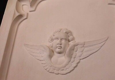 Antique Architectural Religious Italian Carved Marble Altar Angel/Cherub PANEL#2 9