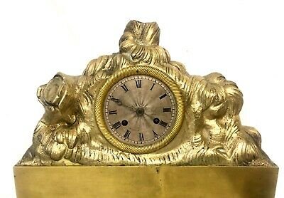 Antique French Brass or Bronze Mantel Bracket Clock by ARERA 2