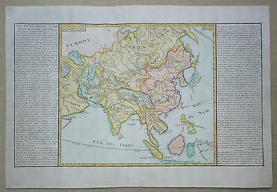 Asien - Lacs, fleuves, rivieres et principales montagnes de l'Asie - Clouet 1787
