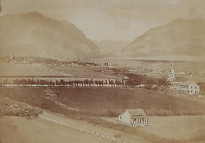 RARE Orig Albumen Photo - Island of Hawaii - Sandwich Islands c 1870s Settlement 2