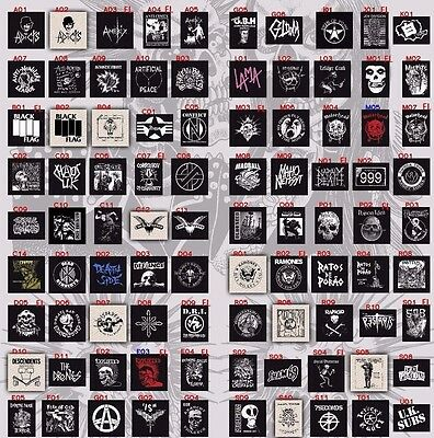 PUNK PATCHES A to Z Sew On Rock n roll hardcore metal crust anarcho grind badge