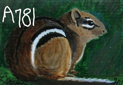 "A869    Original Acrylic Aceo Painting By Ljh    ""Pete Rabbit""  One-Of A-Kind 9"