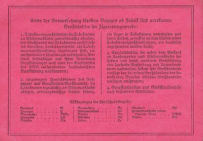 NEUKIRCH/LAUSITZ, Ausweis-Karte, Gebrüder Sauer Tabakhändler Zigarettengewerbe 2