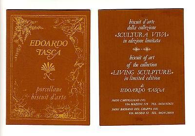 Lg.Pair Vtg ITALIAN- Bronzed PORCELAINS- BOY & GIRL- signed  Edoardo Tasca- NOS 2