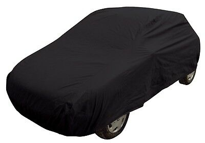 Black Indoor & Outdoor Frost Rain Sun Protection Breathable Full Car Cover LARGE 2