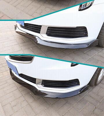 For Cadillac ATS 2015-2018 3PCS Carbon Fiber Front Bumper Lip Spoiler Cover Trim
