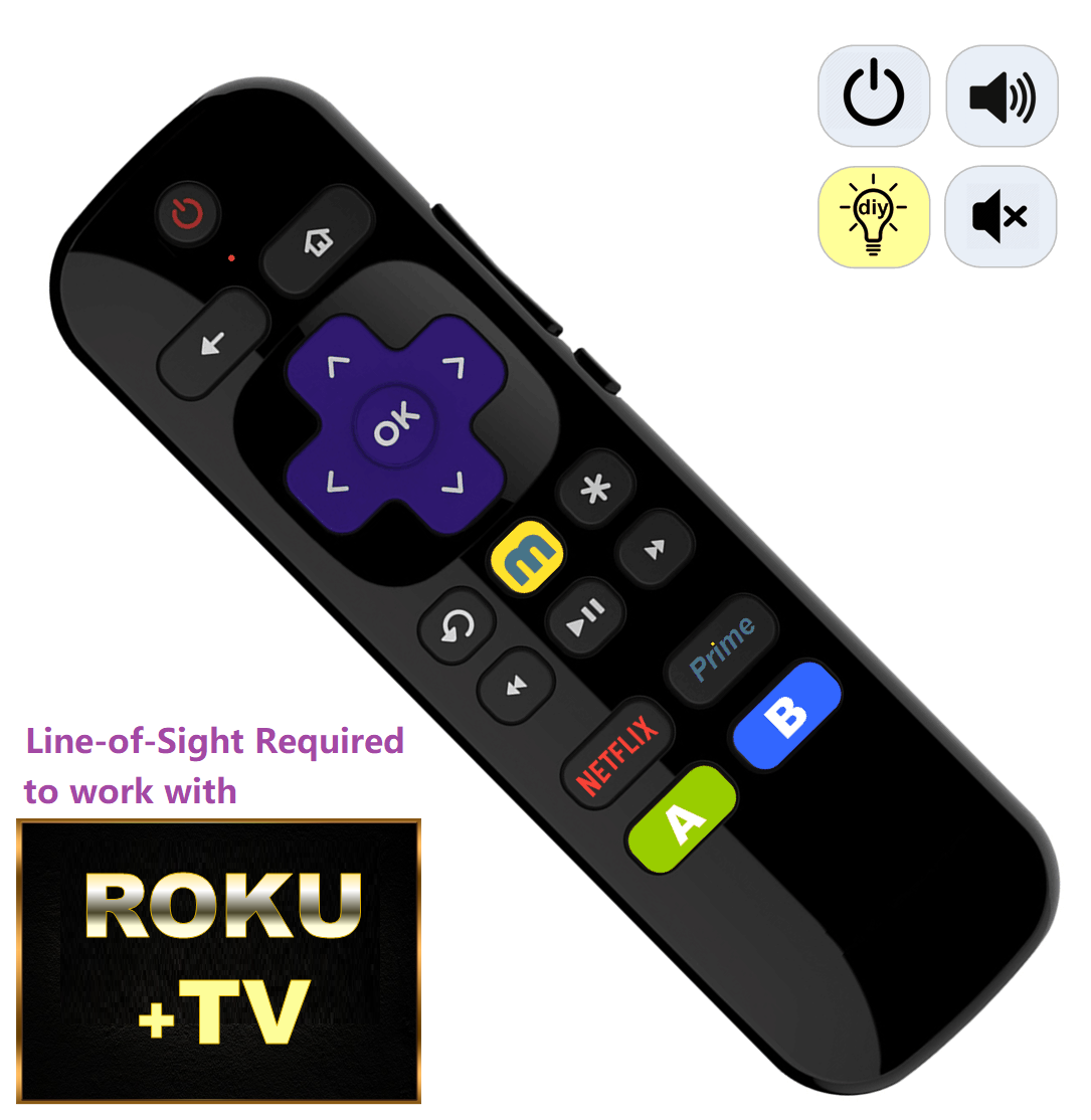 Roku Universal IR Learning Remote Control for Roku 1 2 3 4 Premier Express Ultra 2