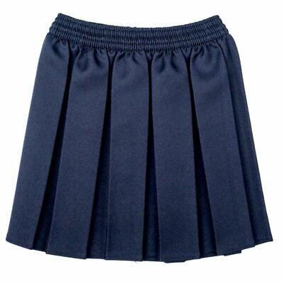 New Girls School Skirts Box Pleated Elasticated Waist Skirt Kids School Uniform 4