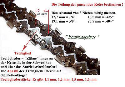 """45cm Schwert 3//8/""""P 4 Ketten 62TG 1,3mm für Einhell BG-PC 1235"""